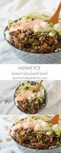 Korean BBQ beef Bowl with Yum Yum Sauce