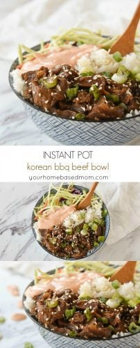 Korean BBQ beef Bowl with Yum Yum Sauce