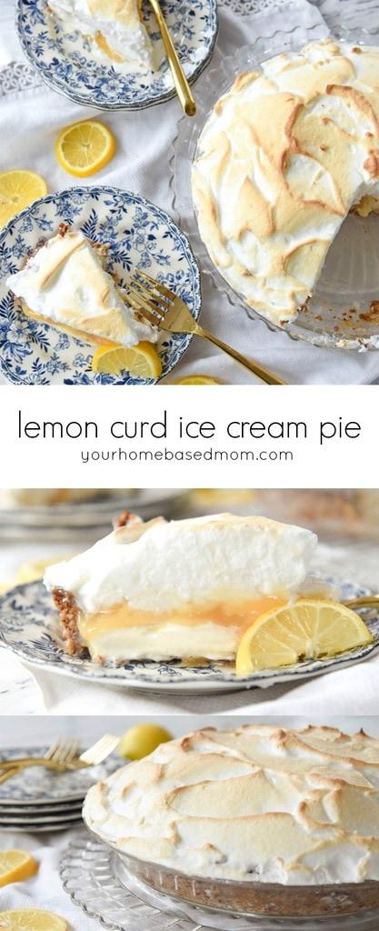 Lemon Curd Ice Cream Pie c