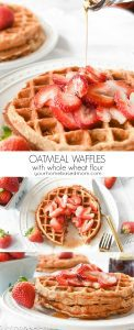 Oatmeal Waffles with whole wheat flour c