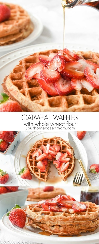 Oatmeal Waffles with whole wheat flour c