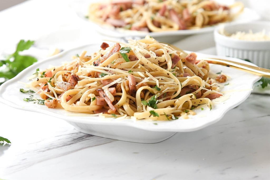 Roasted Walnut and Ham Pasta