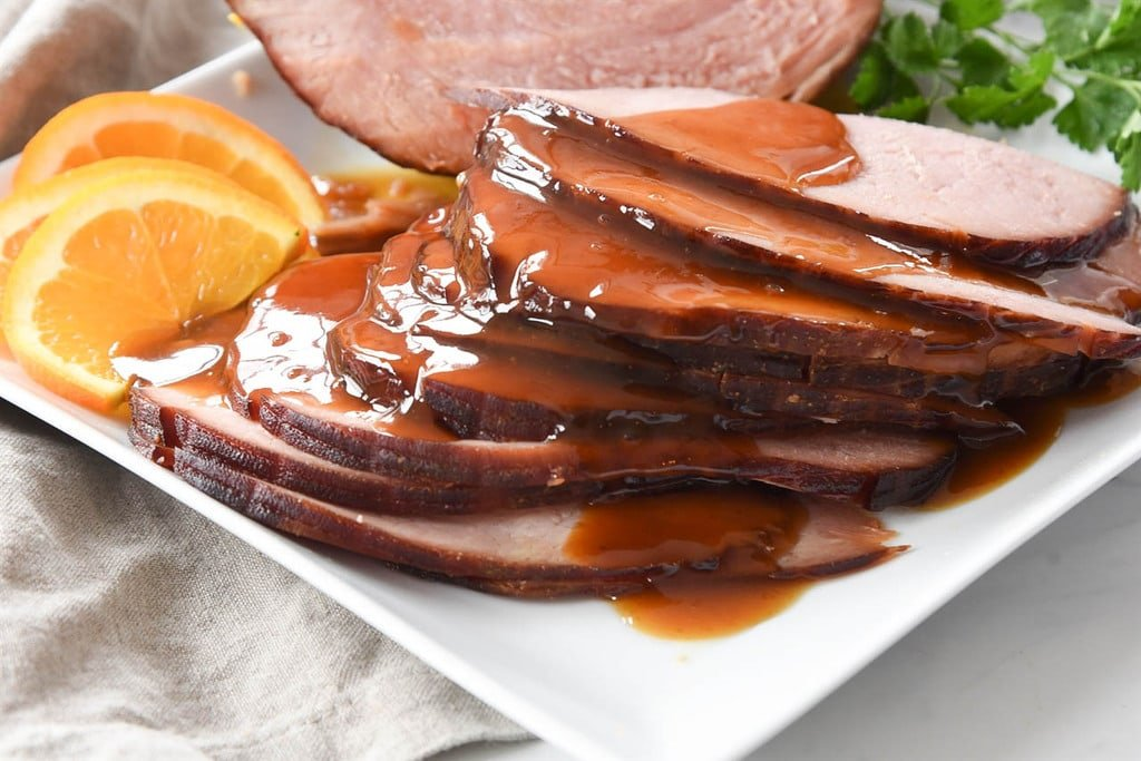 maple brown sugar ham made in a crock pot