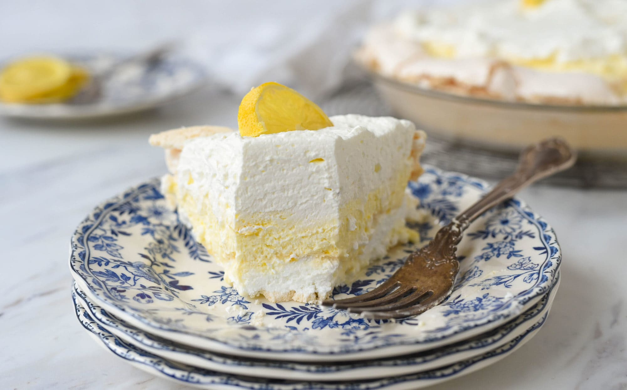 slice of lemon pie