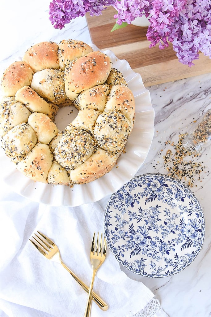 Everything Bagel Pull Apart Bread