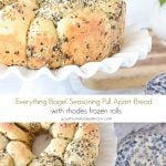 Everything Bagel Seasoning Pull Apart Bread with Rhodes Frozen Rolls
