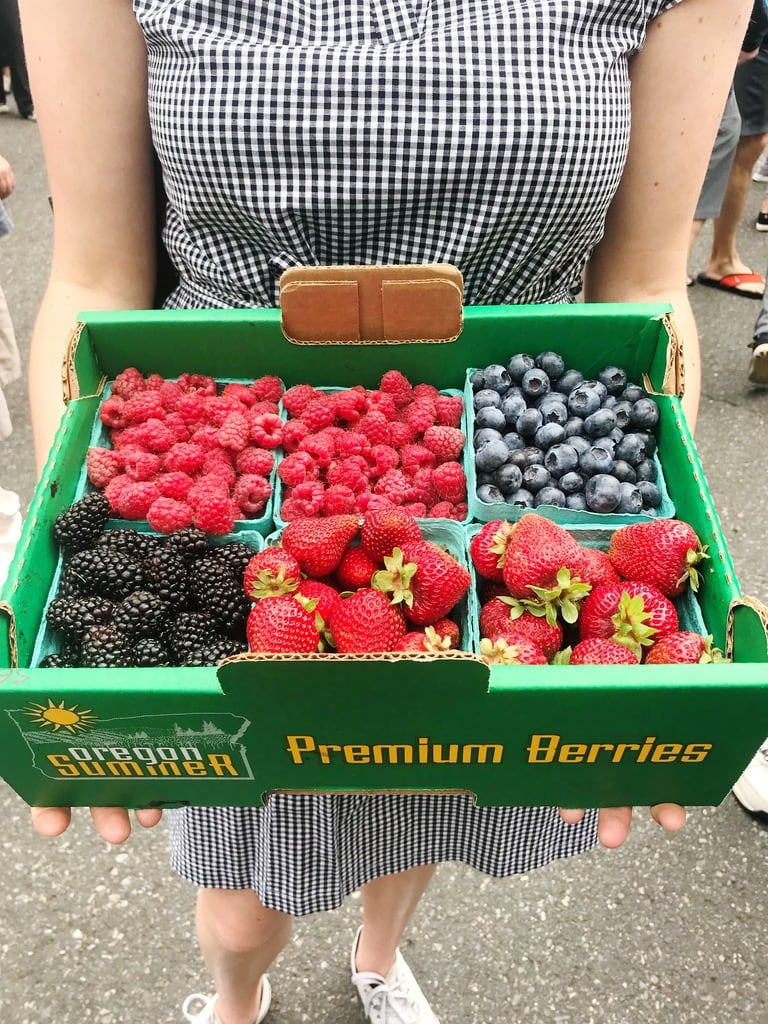 fresh berries from the farmers market