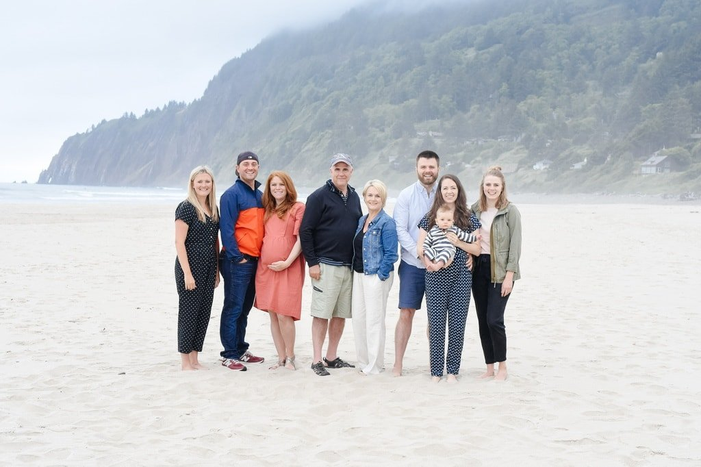 family picture on the beach