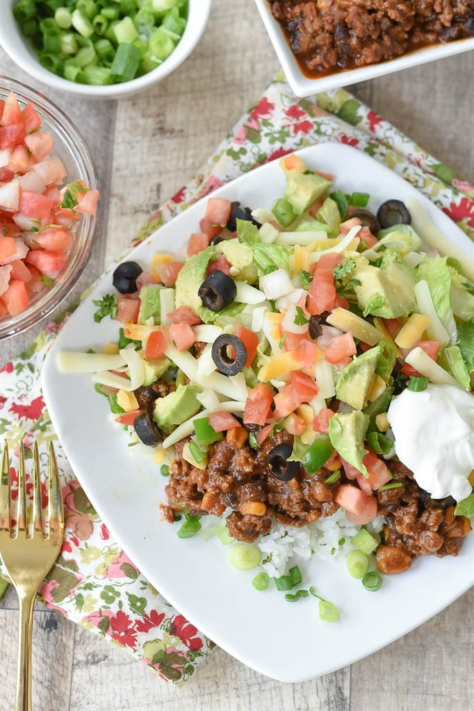 Mexican Haystacks salad