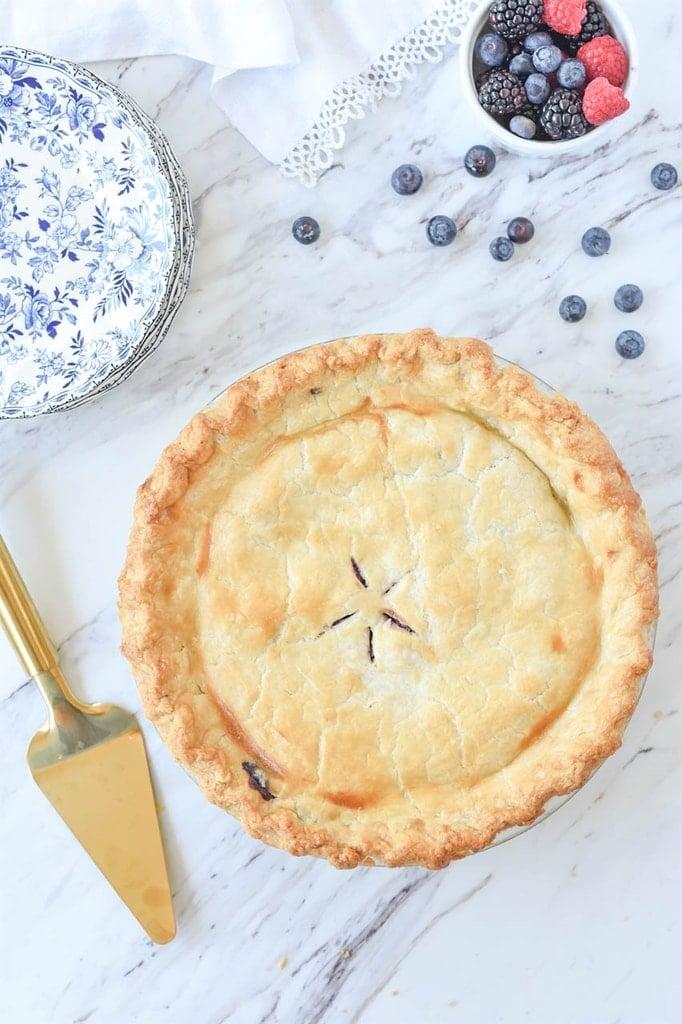 Baked Razzleberry Pie