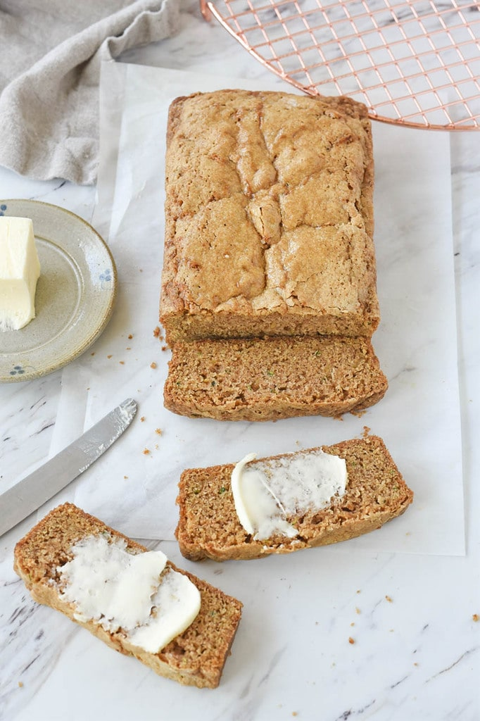 Zucchini Bread with butter