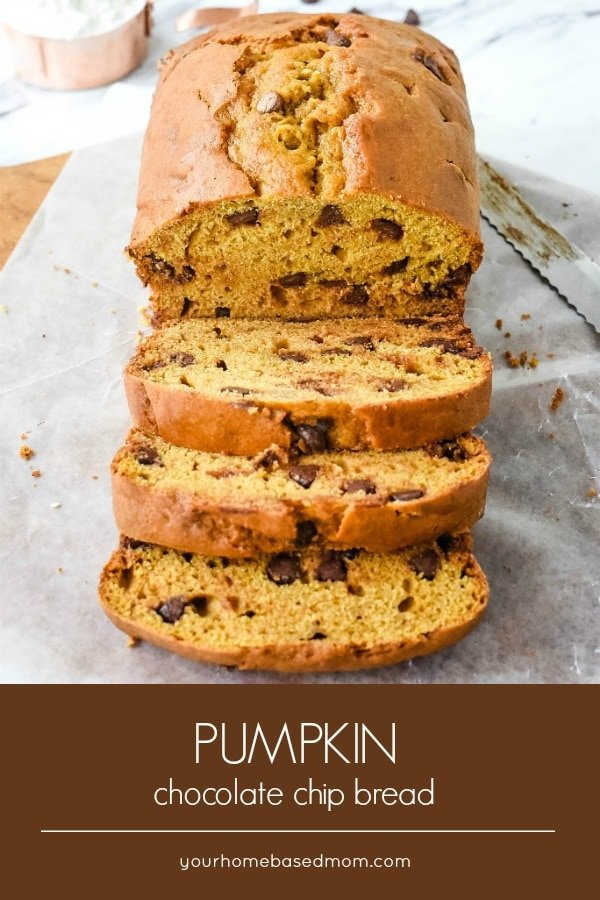 What better way to keep off the fall pumpkin spice season than a loaf of pumpkin chocolate chip bread. Chocolate is the perfect companion to pumpkin.