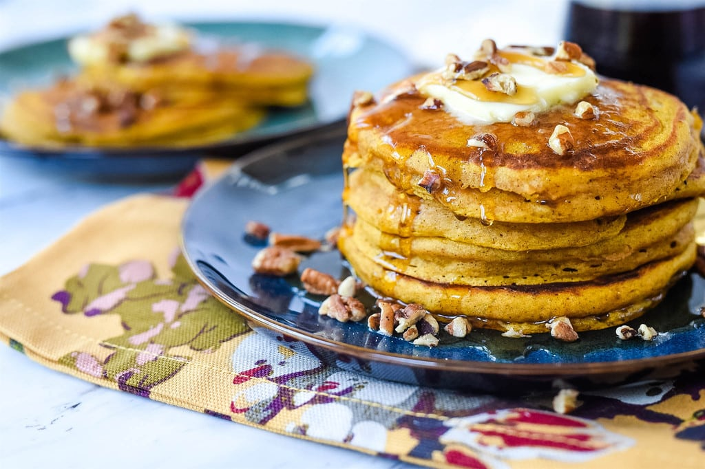 Pumpkin Pancakes on a plate