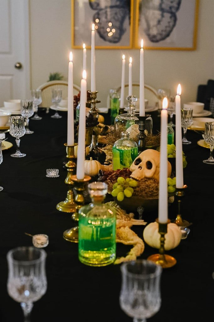 Mad Scientist Dinner Party Table Decorations