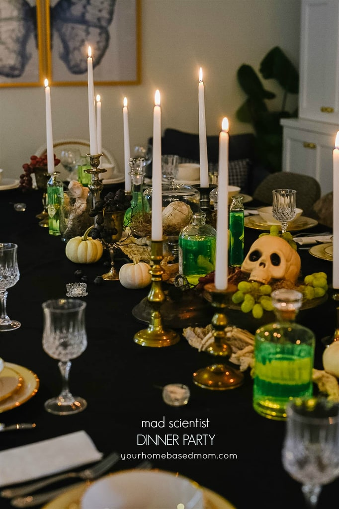 Mad Scientist Dinner Party Tablescape