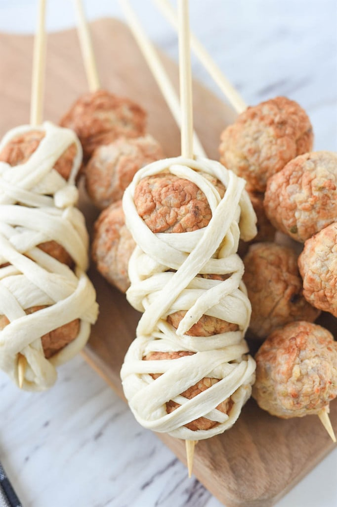 meatballs warpped in dough