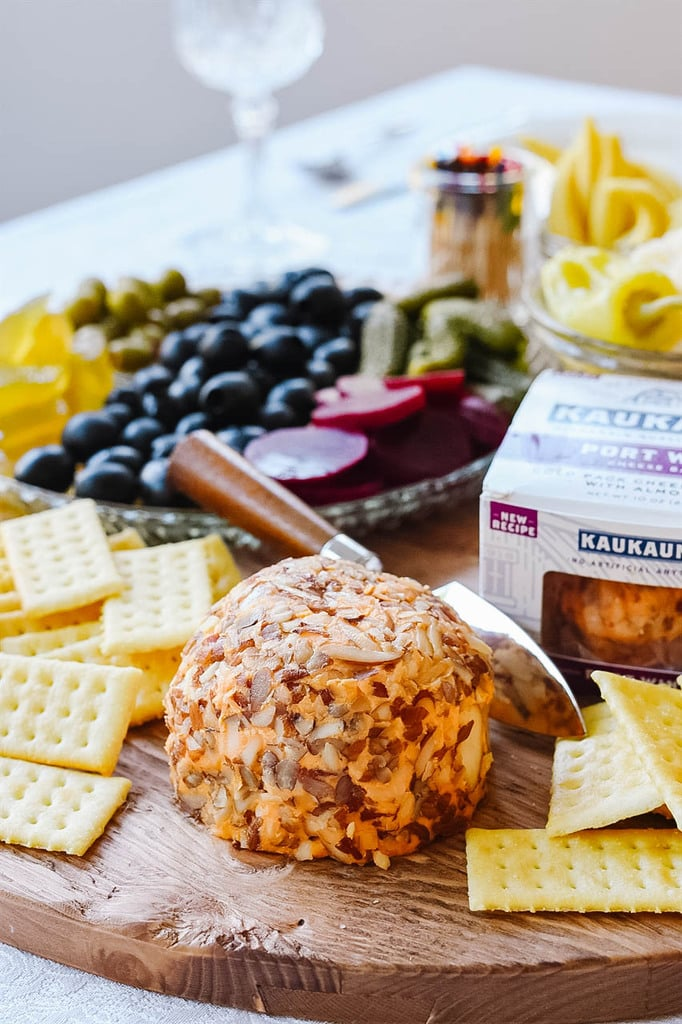 kaukauna cheese ball on a Relish Tray