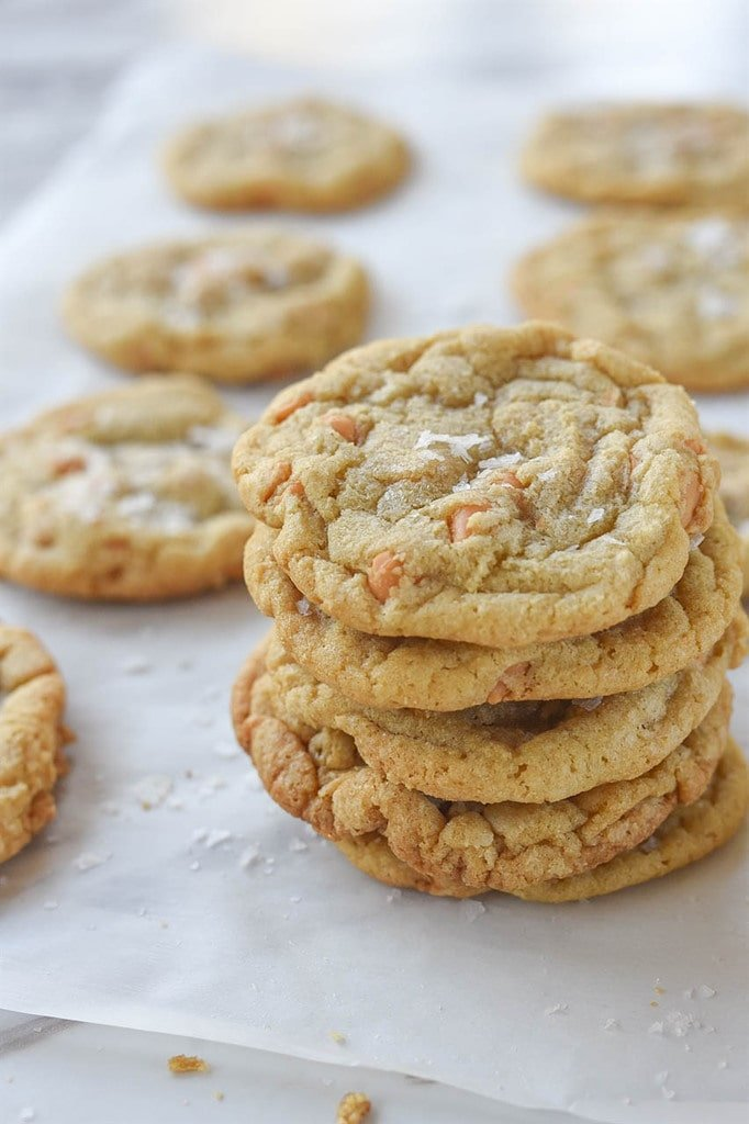 stack of Salted Butterscotch Cookies