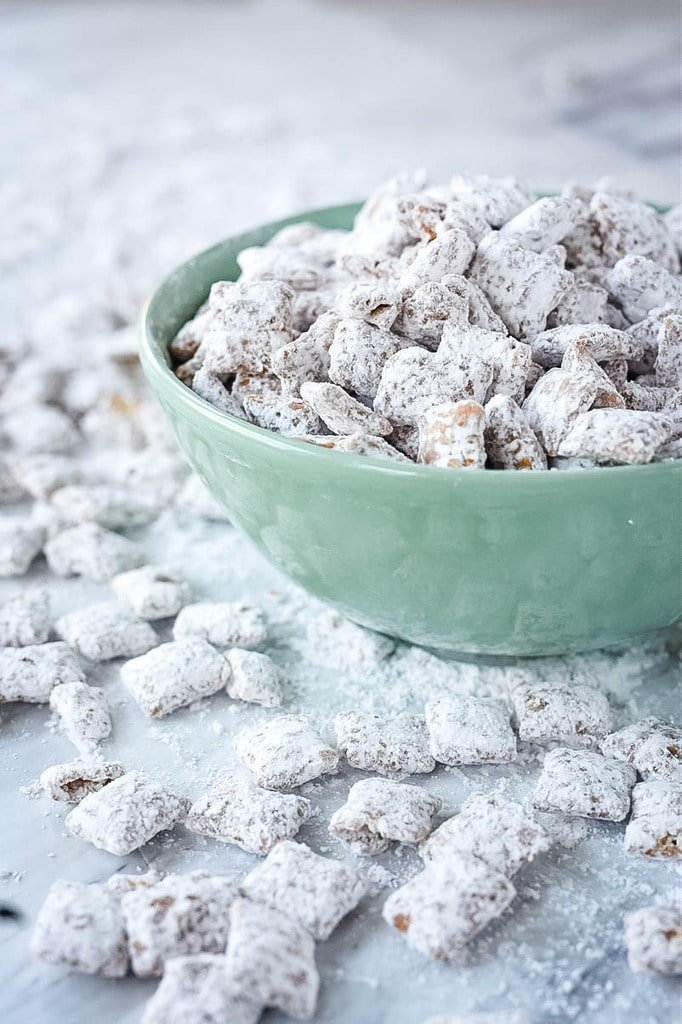 Puppy Chow made with cookie butter