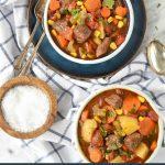 Steak Soup in a bowl