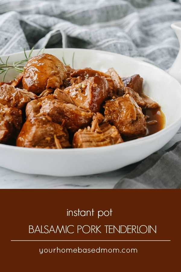 Instant Pot Balsamic Pork Tenderloin