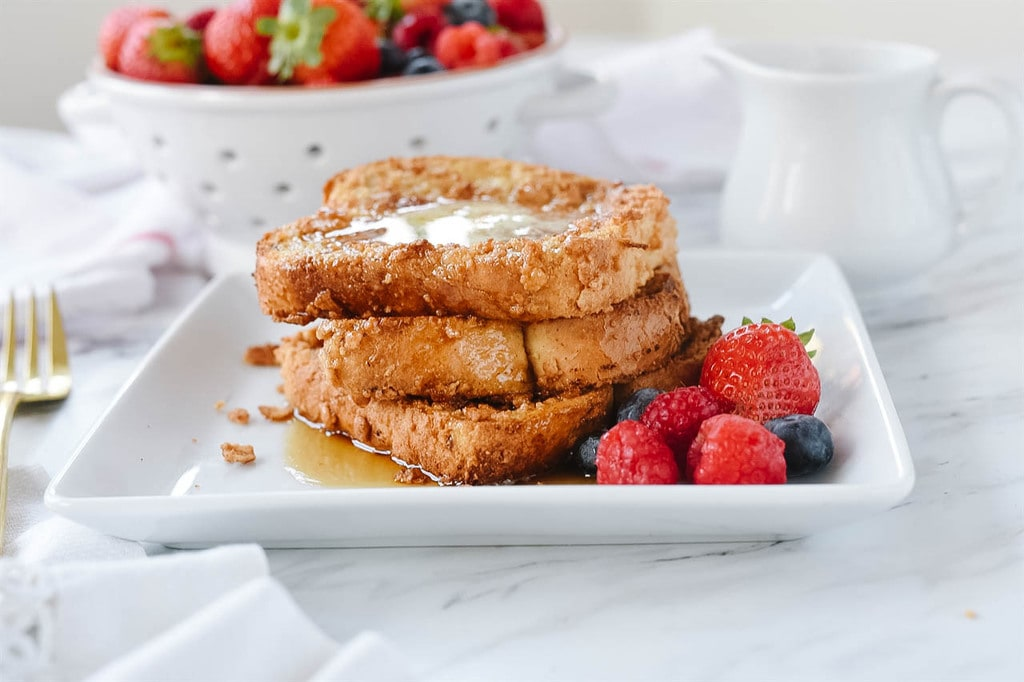stack of Baked French Toast