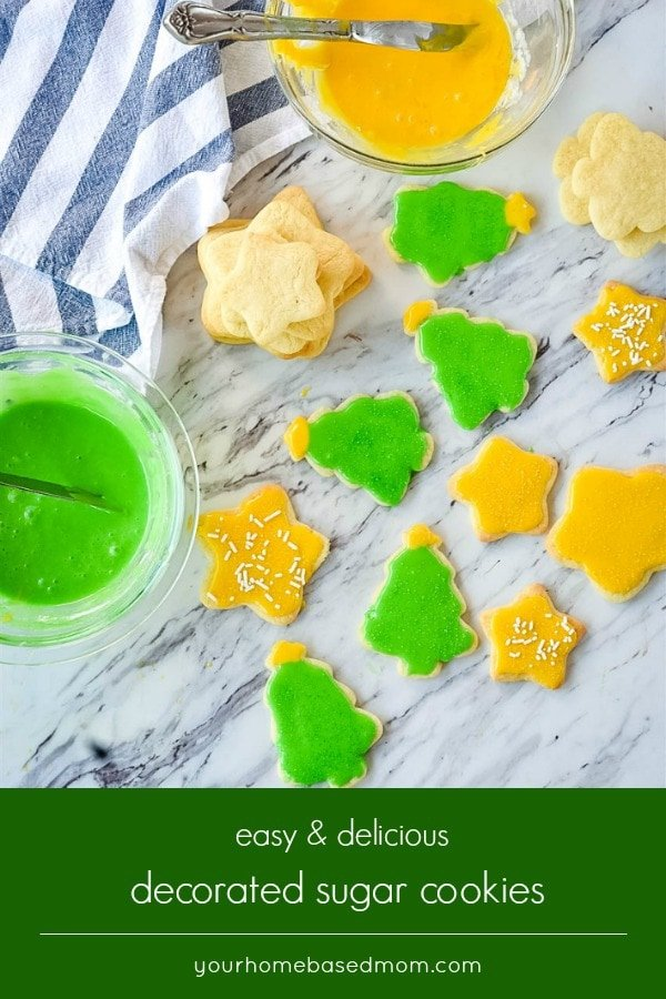 This  decorated sugar cookie recipe has been my go to recipe for years.  It is delicious, easy to make and decorate.  The perfect sugar cookie recipe for your holiday baking.