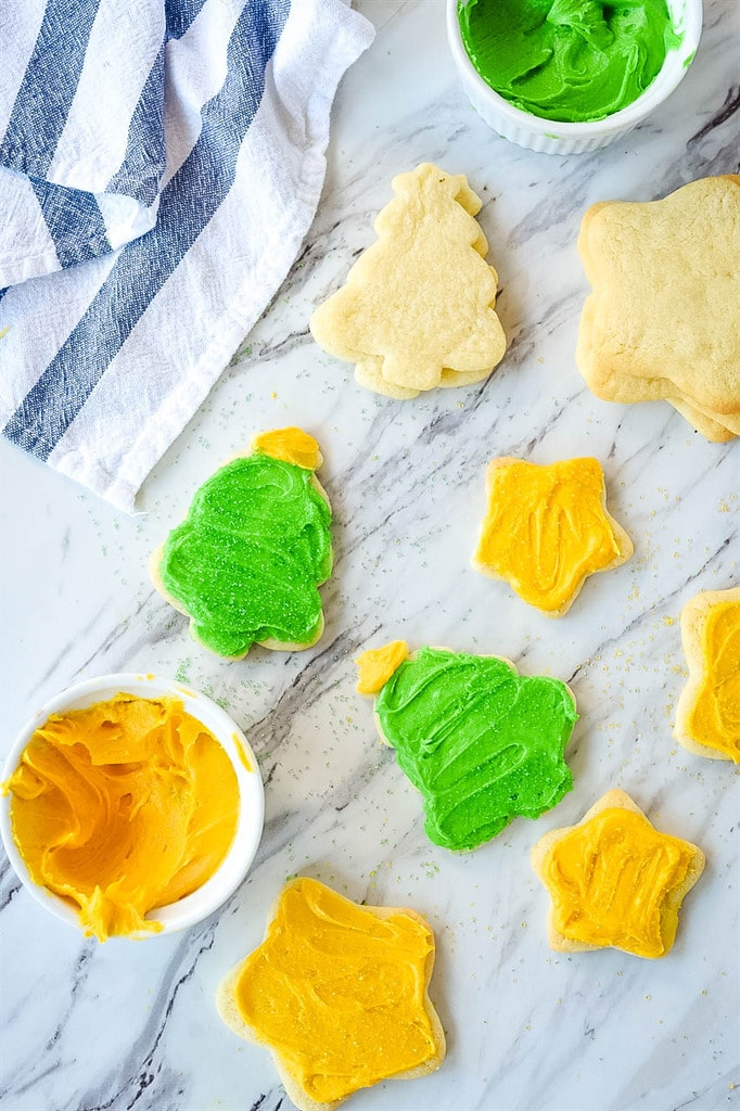 frosted christmas tree Sugar Cookies