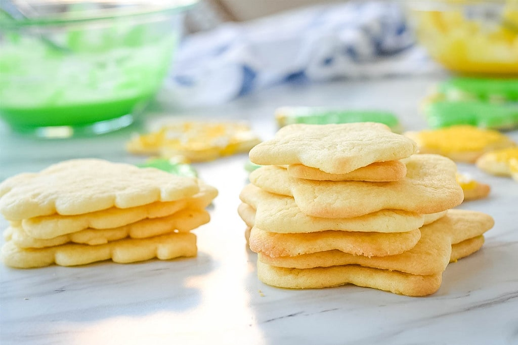 un decorated sugar cookies