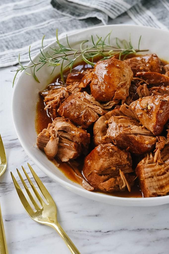 Balsamic Pork Tenderloin made in the Instant Pot