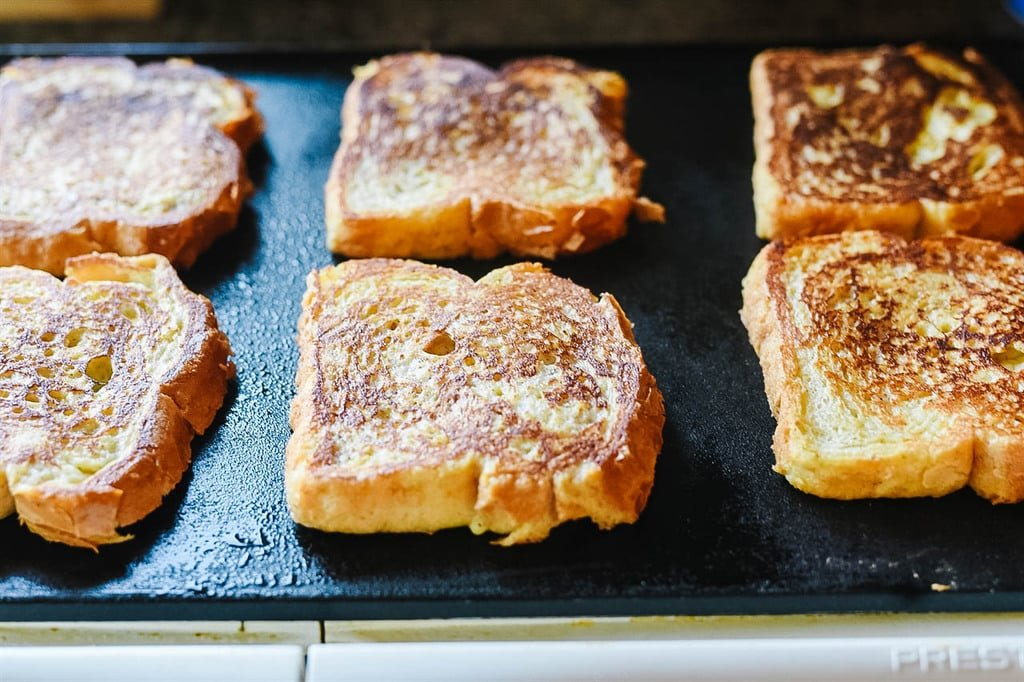 Overnight French Toast on the griddle