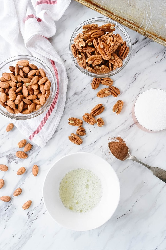 almond and pecan spiced nuts