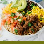 Taco Bowl over Brown Rice