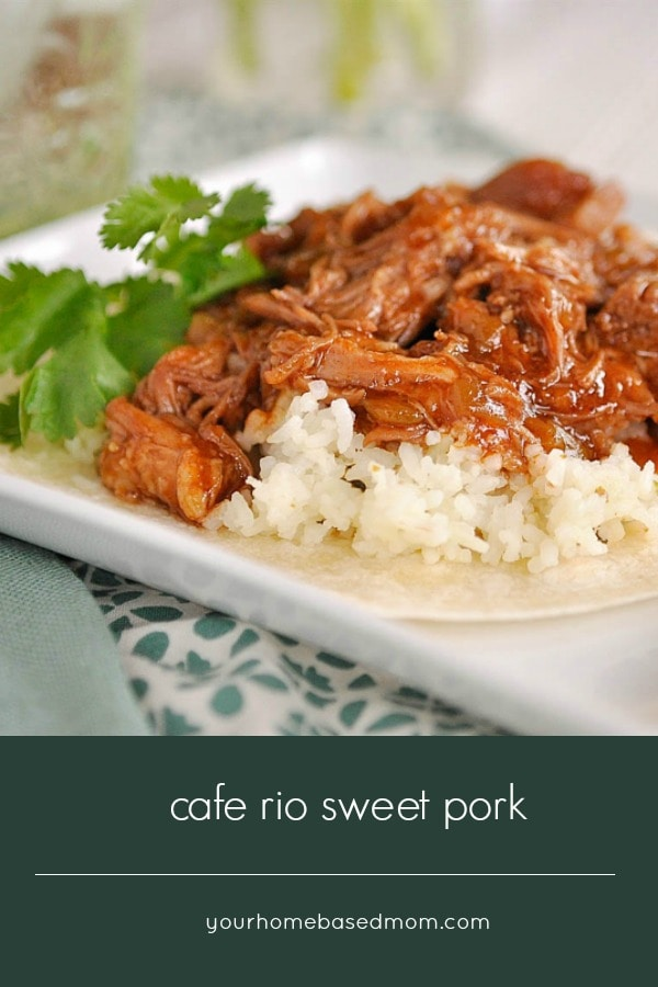 Cafe Rio Sweet Pork is easy to make and delicious on anything from a salad to a taco.