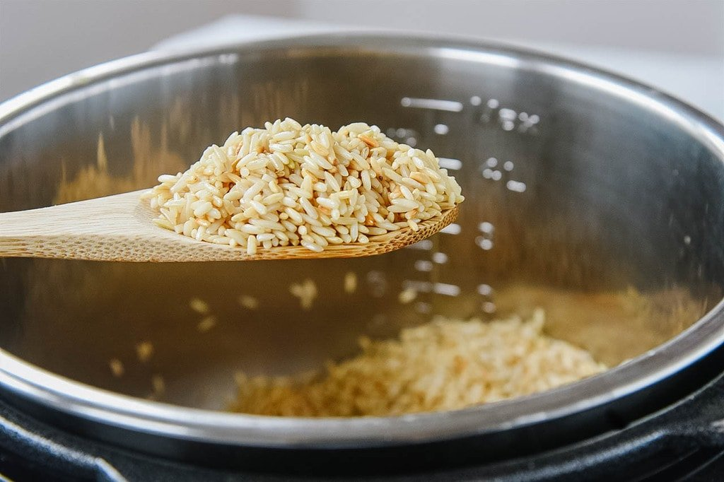 cooking Instant Pot browned rice