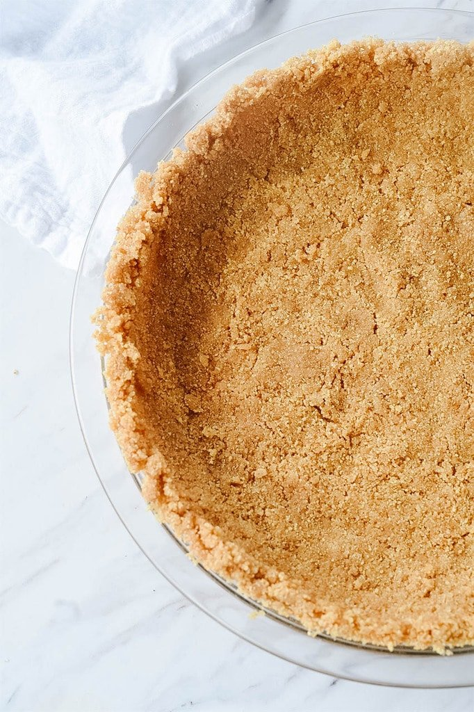 Graham Cracker Crust in a pie pan