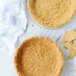 Graham Cracker Crust in two pie dishes