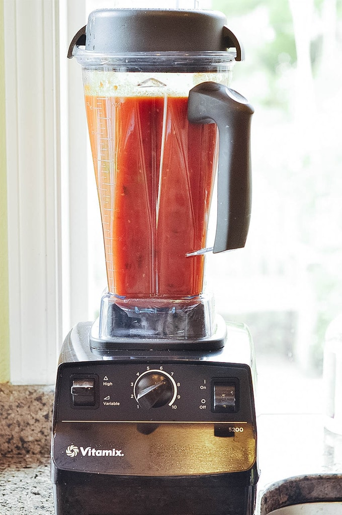 Tomatoes in the blender