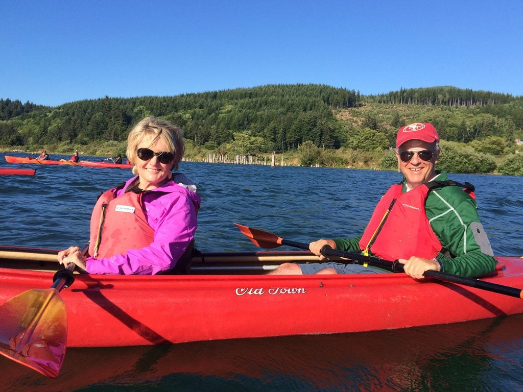 empty nesters kayaking