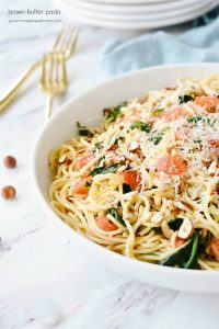 Brown Butter Pasta in a bowl