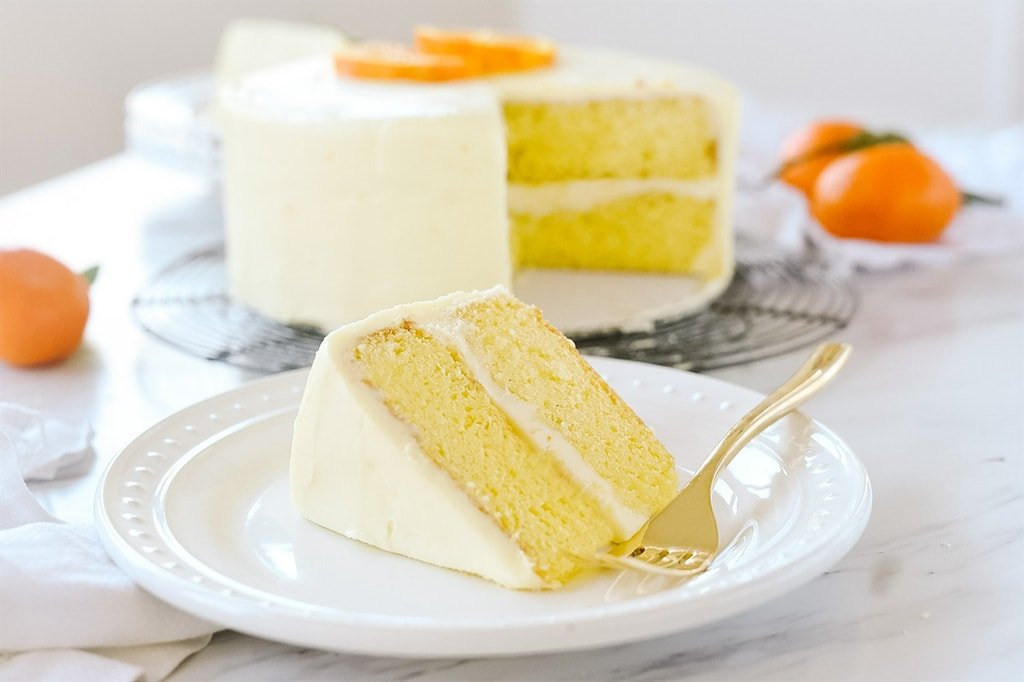 Slice of Orange Cake
