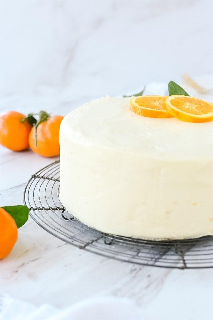 frosted orange cake