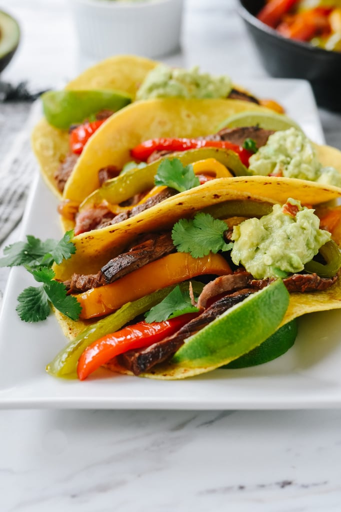 Beef Fajitas with guacamole