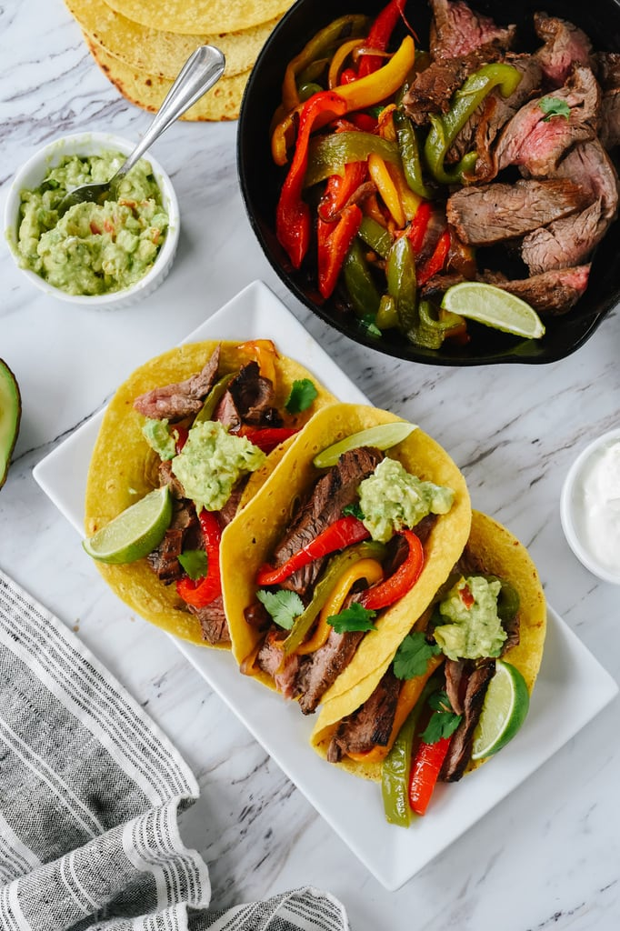 Beef Fajitas on corn tortillas