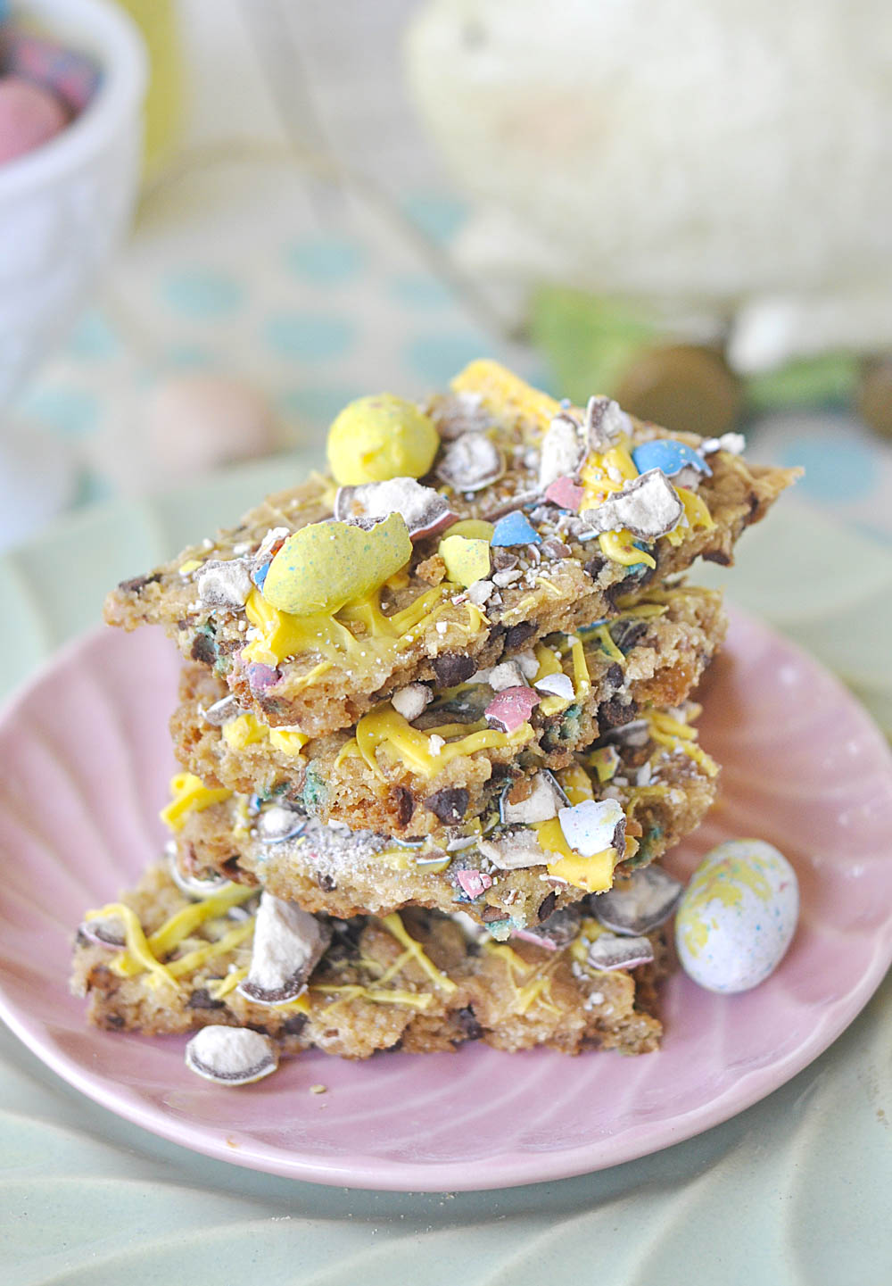stack of bunny brittle