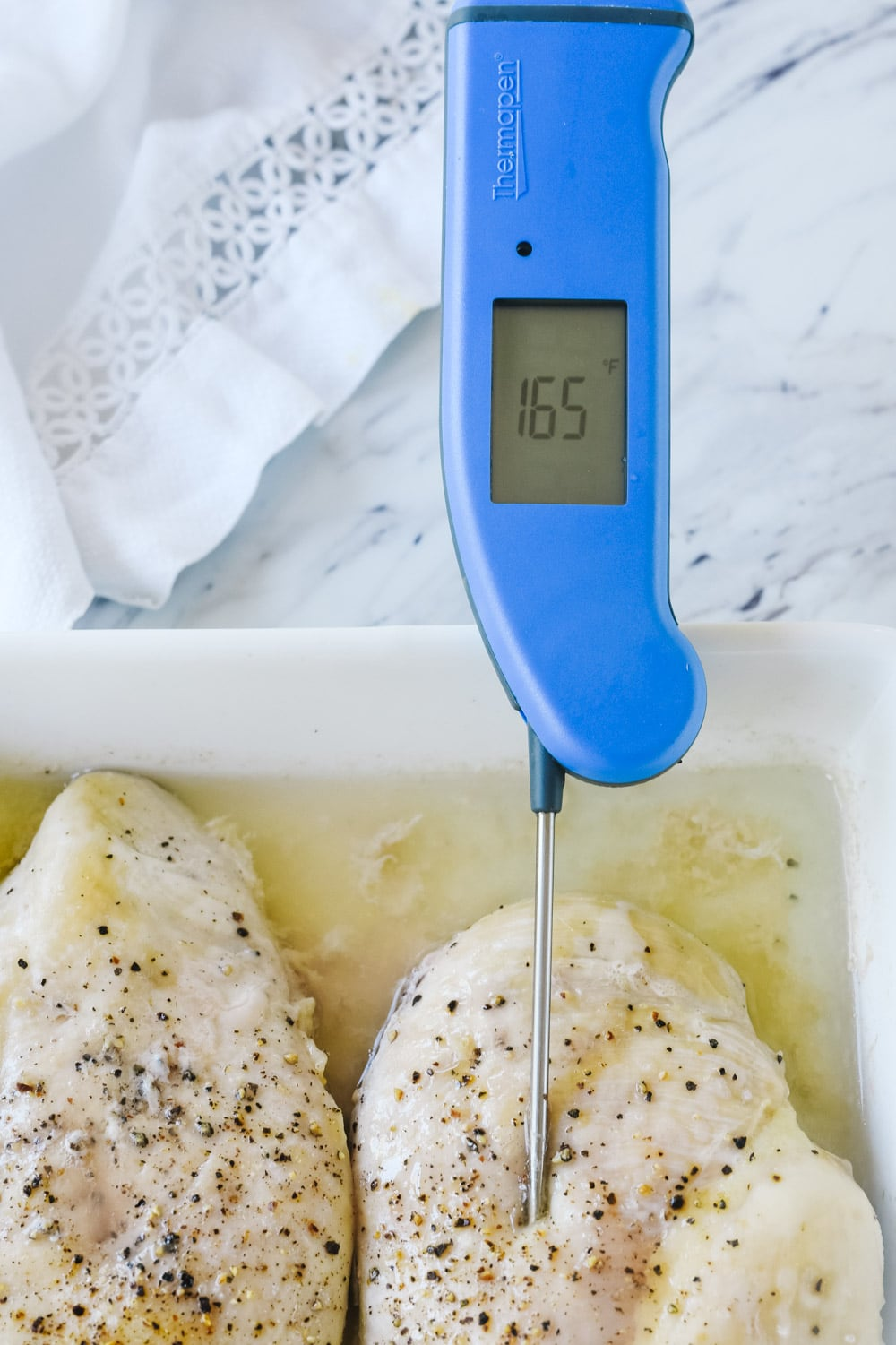 chicken breast with thermapen