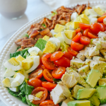 cobb salad on a plate