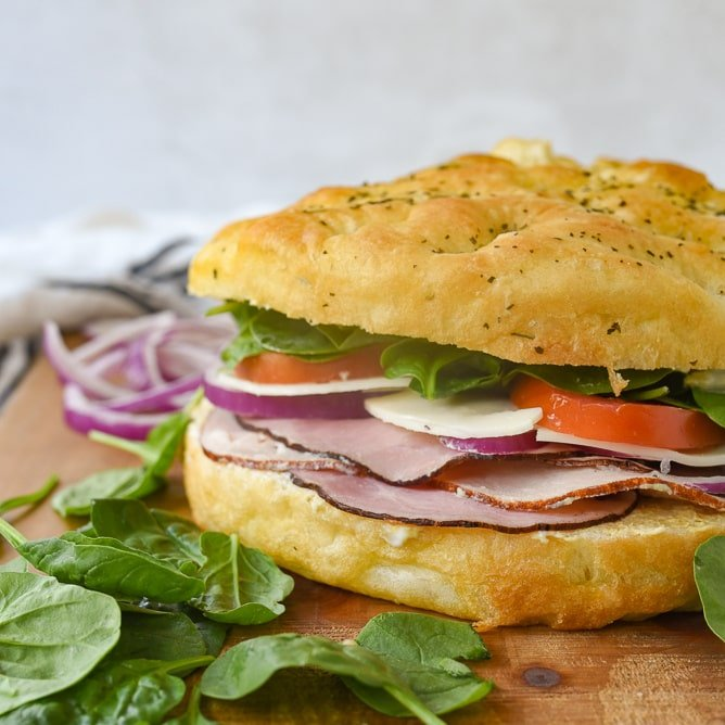 Focaccia Sandwich Recipe By Leigh Anne Wilkes