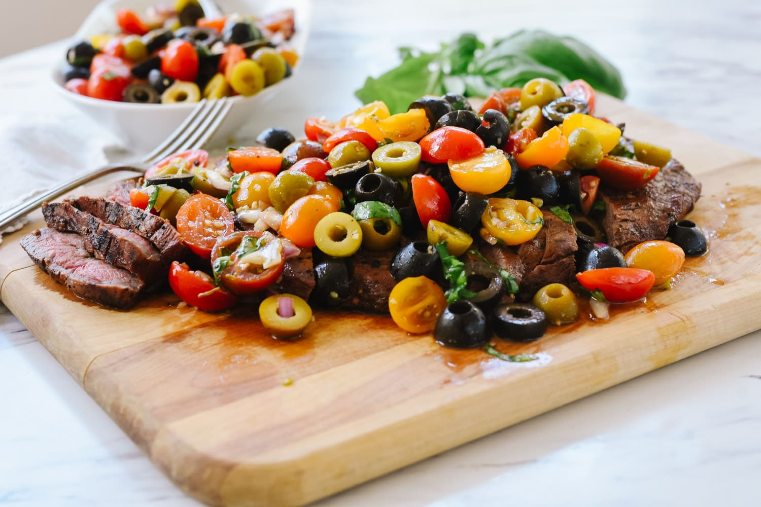 grilled flank steak with relish