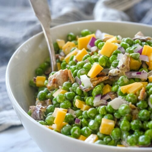 Pea Salad with cheese